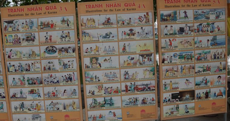 Illustrations for the Law of Karma (Found in Hanoi Buddhist Temple)